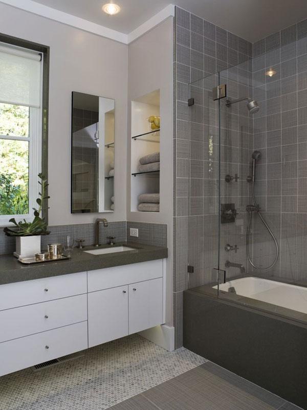 Contemporary Small Bathroom Decorating