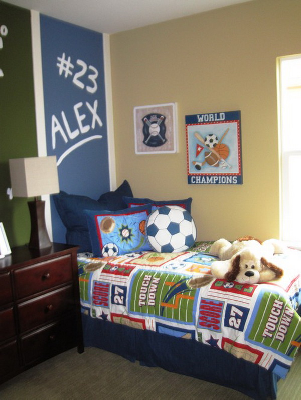 Cool Boys Bedroom Ideas Of Design Pictures - Kids football room