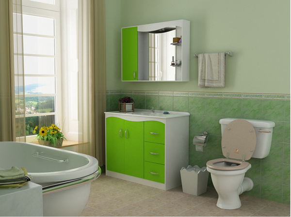 Green Bathroom Design