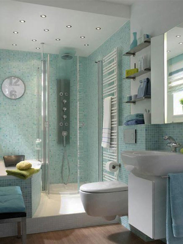 green small bathroom design - Compact Bathroom Design Ideas