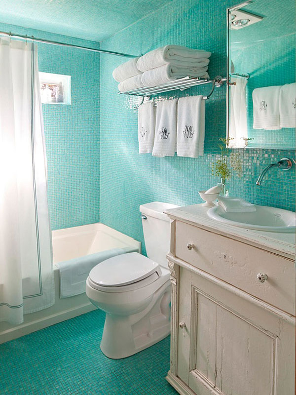 Green Small Bathroom Interior Design