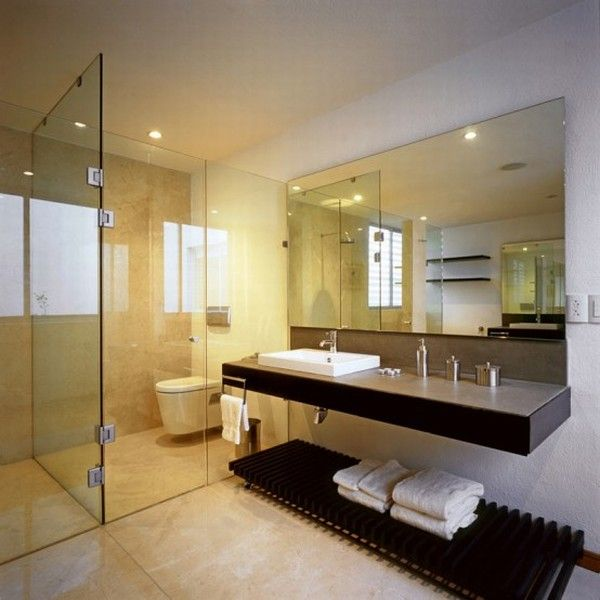 modern small bathroom with shower room interior design - Interior Designs Bathrooms