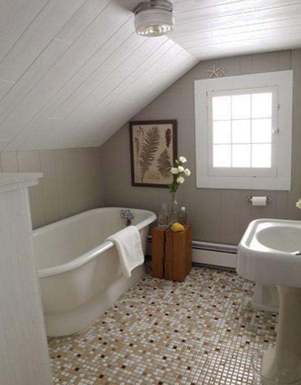 Small Attic Bathroom Design