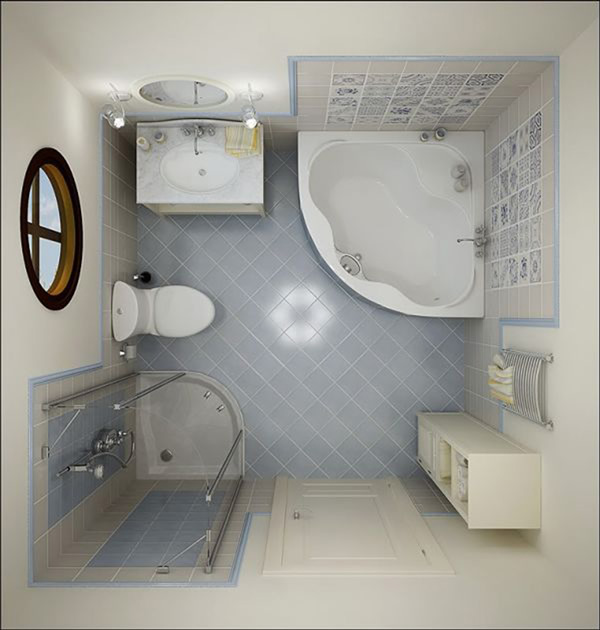 Small Bathroom Decorating Top View Image
