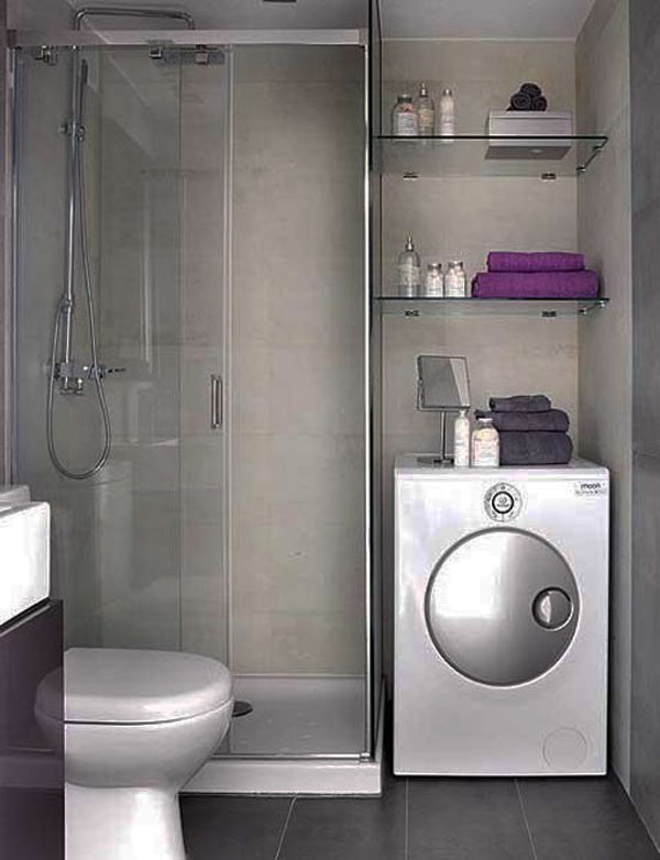 Small Bathroom Design Picture With Washing Machine