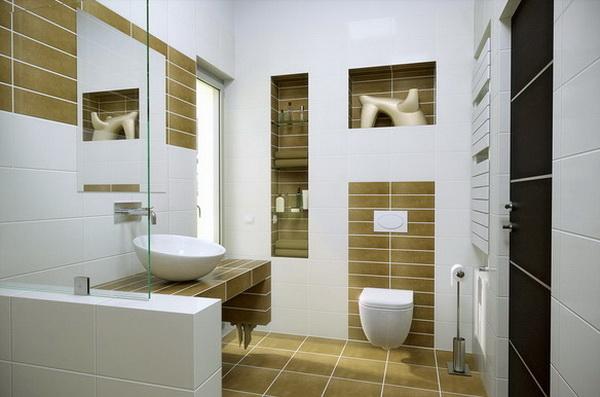 Small Contemporary Bathroom