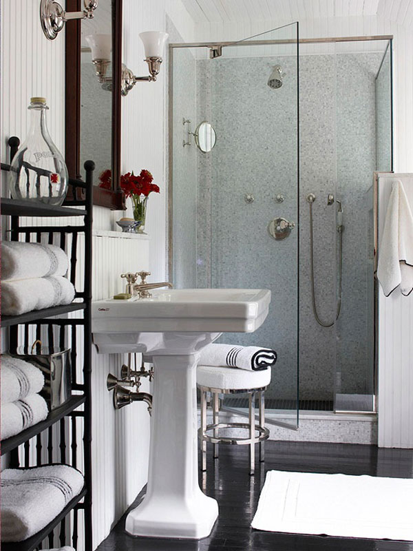 Small Contemporary Bathroom With Shower Room
