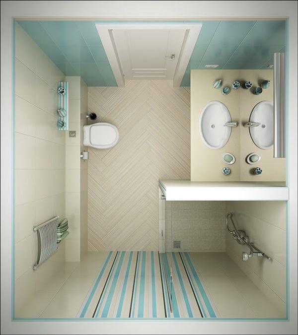 Tiny Bathroom Design Top View