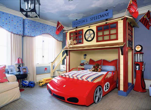 traditional-boys-bedroom-with-car-bed-by-wendi-young-design