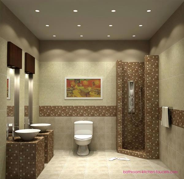 Warm Small Bathroom