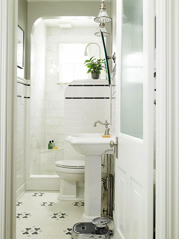 Small Shower Room Ideas inspiration for a bathroom remodel in other White Compact Bathroom Design