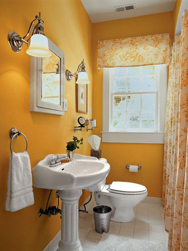 Yellow Small Bathroom Design