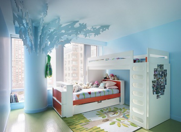 Blue Girls Bedroom Design