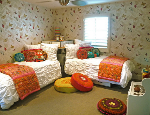 Eclectic Girls Bedroom Design