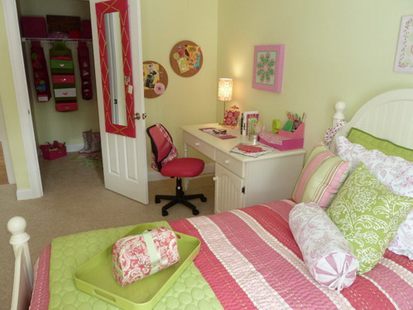 Green Girl Bedroom
