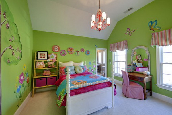 Green Teenage Girl Bedroom