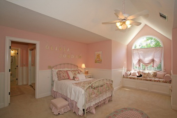 Pink Romantic Girls Bedroom