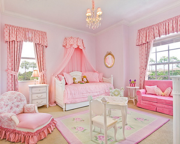 Pink Teenage Girl Bedroom Idea