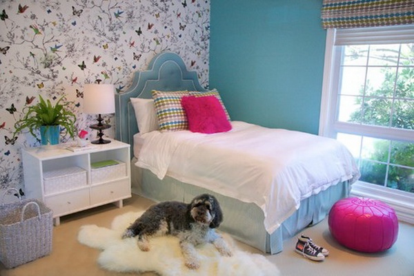 50 cool teenage girl bedroom ideas of design for Room decor ideas teenage girl