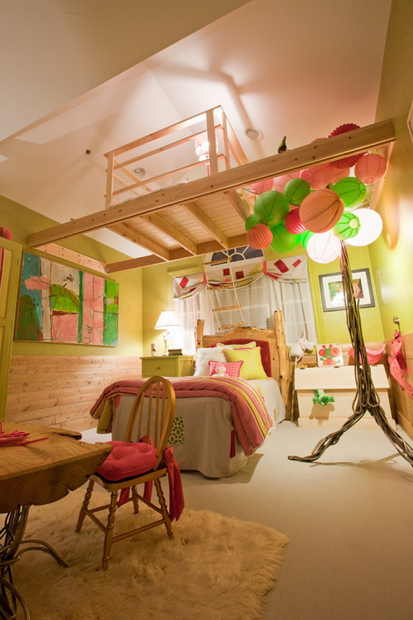 Teenage Girl Treehouse Bedroom