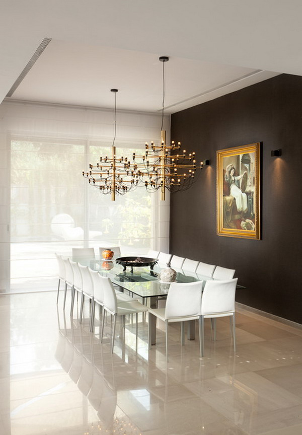 40 beautiful modern dining room ideas for Modern dining room table decorating ideas