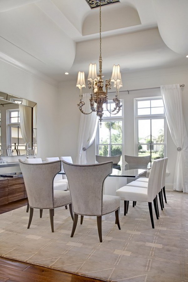 40 beautiful modern dining room ideas for Beautiful dining room decorating ideas