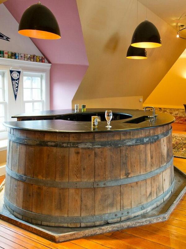 Whiskey Barrell Bar.