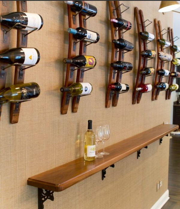 Basement Bar Shelf.