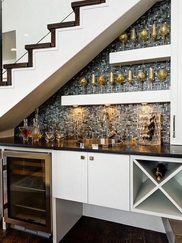 Wine Bar Under Stairs.