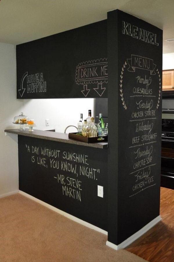 DIY Chalkboard Wall.
