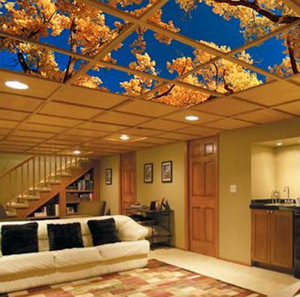 Ceiling Art Fits Easily Into Your Dropped Ceiling Or Suspended Ceiling Grid  And Provides Not Only