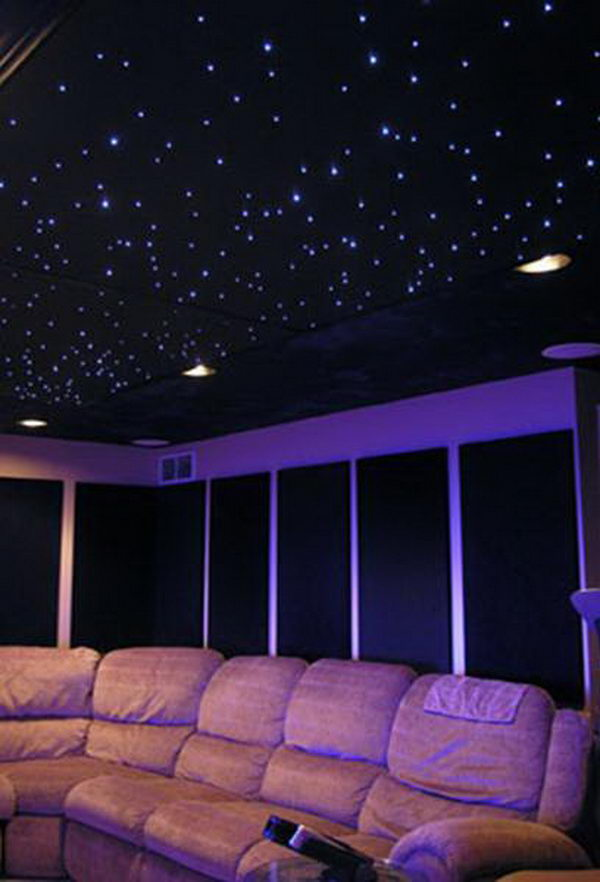 Star Ceiling. Install fiber optic star ceiling kits, tiles and domes into your living areas and children's bedrooms. Enjoy many movies and quiet times under the stars.