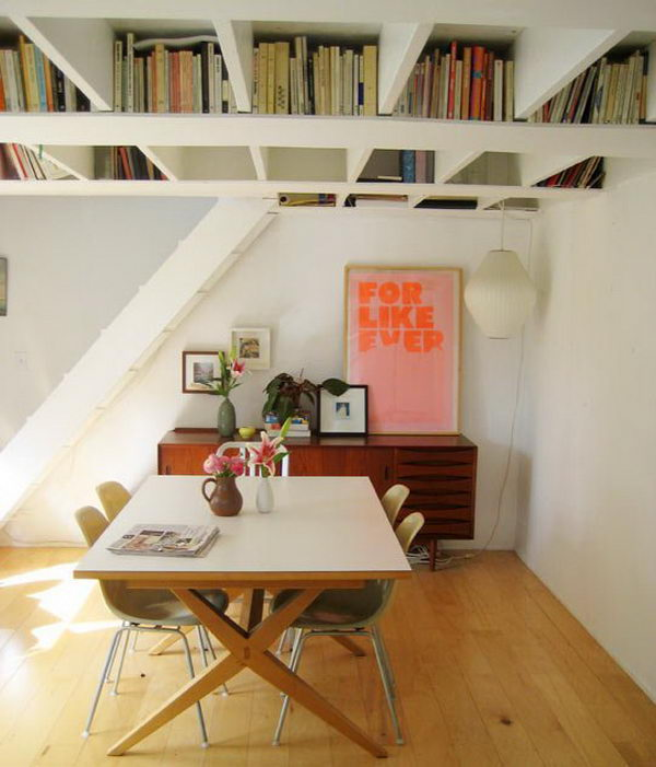 Basement Ceiling Bookshelf,