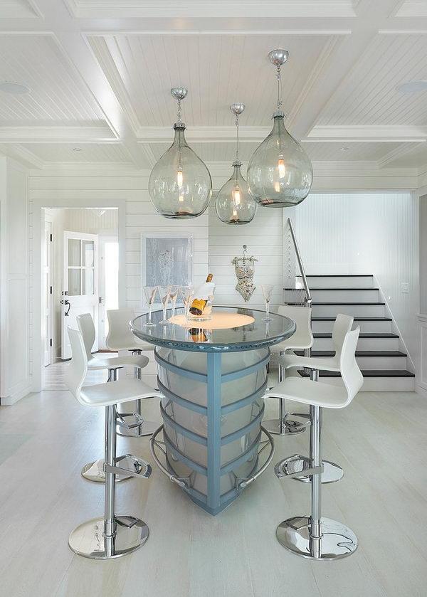 Glass Basement Ceiling Lighting,