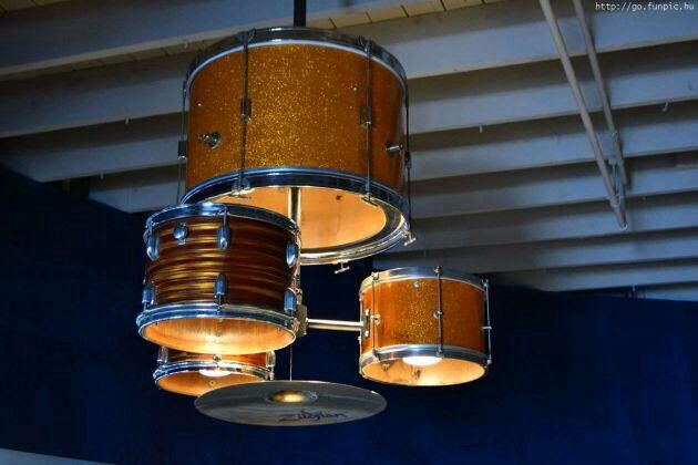 Drums Lighting for Basement Bar,