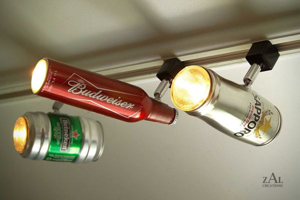 Recycled Beer Can Track Lighting. With a little imagination and creativity, you can use beer can to create surprisingly interesting Beer Can Track Lighting.