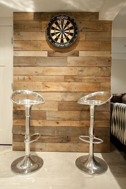 Rustic and Modern Game Room Wall,