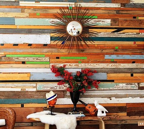 DIY Wood Wall,