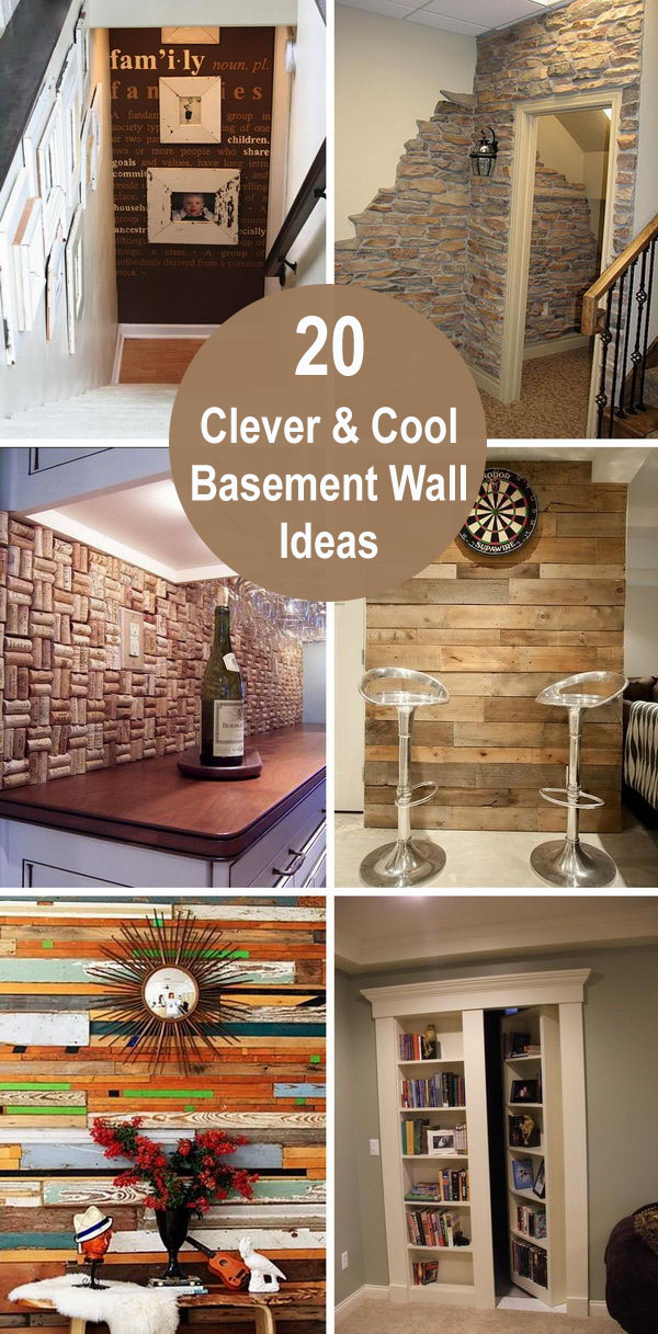 20 Clever and Cool Basement Wall Ideas.