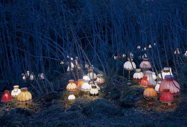 Light Installation. Conceptual artist Rune Guneriussen transforms the most ordinary of objects into large-scale installations that pepper the dreamlike landscape of his native Norway.