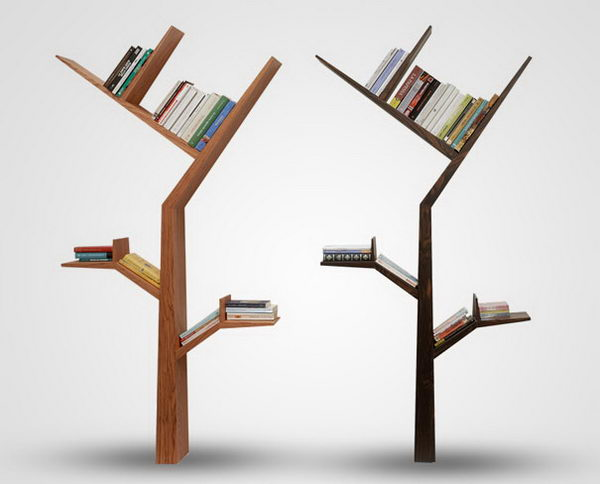 Tree Bookcase Decorative Shelving,