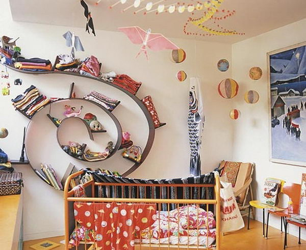 Spiral Shelving Idea,