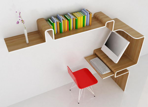 K Workstation Decorative Shelving Idea,