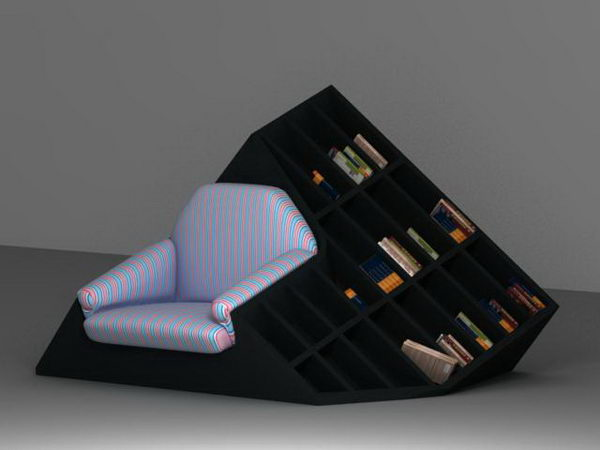 Hybrid of Armchair and Bookshel,