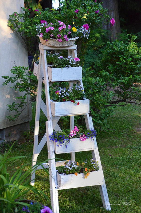 Creative Ladder Decorating Idea.