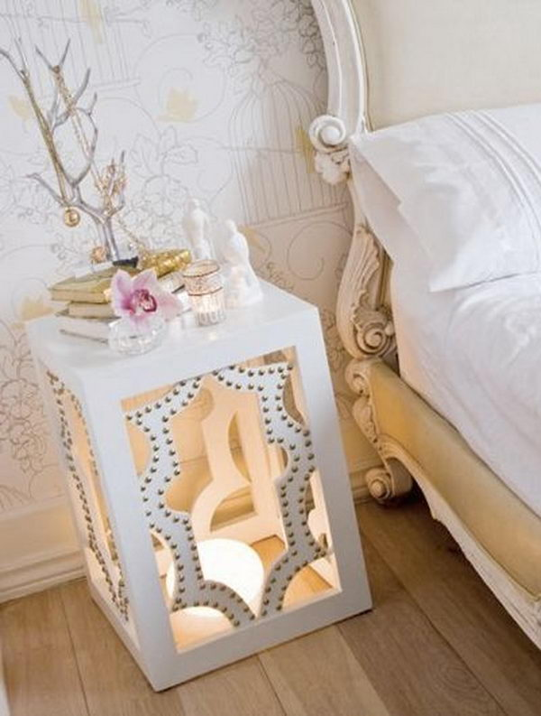 30 creative nightstand ideas for home decoration for Nightstand ideas