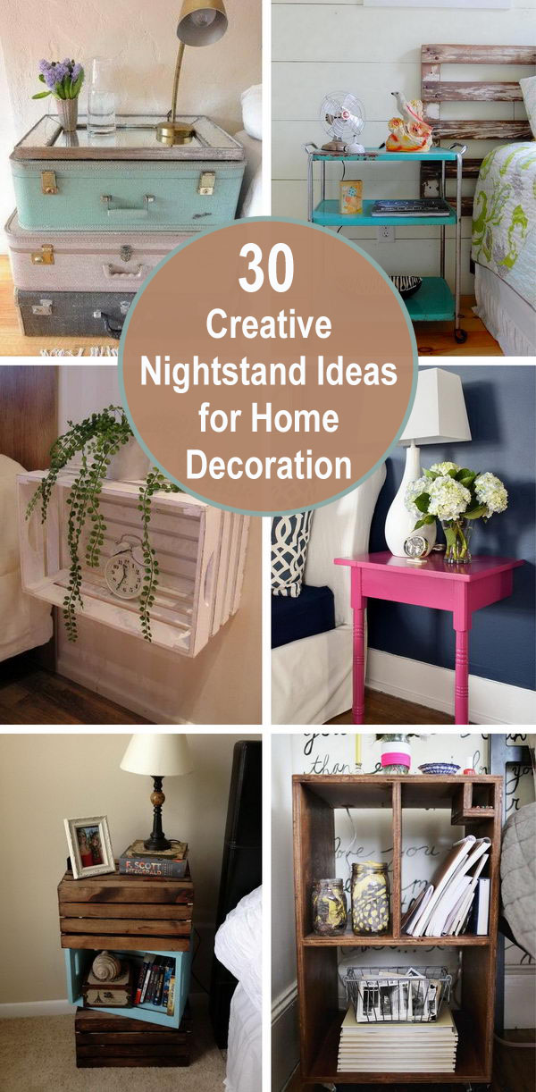 30 Creative Nightstand Ideas for Home Decoration.