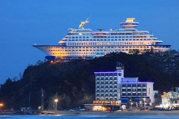 Sun Cruise hotel in South Korea.