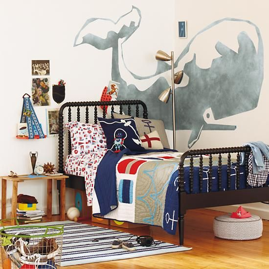 25 nautical bedding ideas for boys for Seashell bedroom decor