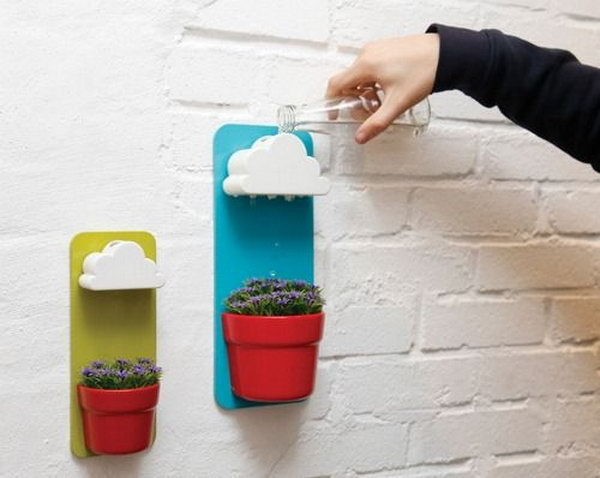 Cloud watering plant pot. These container gardening ideas offer a great way to brighten your surroundings immediately. Make your home look different unique and interesting.